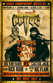 Halloween Havoc 1995 Card by Macroween Collab Huge Halloween Havoc By Illogicalferret On The