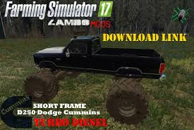 100 Monster Truck Simulator DODGE CUMMINS AND CHEVY MONSTER TRUCK V10 LS 17 Farming