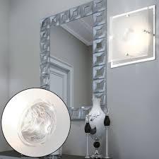 etc shop deckenleuchte 9 5 w led decken spiegel beleuchtung wohnzimmer chrom glas leuchte satiniert kaufen otto