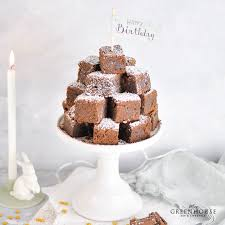 schokoladen brownies rezept und diy cake topper