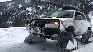 Toyota On Tracks - YouTube American Track Truck Car Suv Rubber System Mattracks Snow Tracks You Can Buy The Snocat Dodge Ram From Diesel Brothers On 1985 Asv 2500 Bolton Tracks Turn Jeeps Into Snowmobiles In 15 Minutes Litetrax Home Lite Trax Systems Woodys Mini Trucks Gmc Sierra All Mountain Concept Is Designed To Dominate Snow Roadshow Ski Double Electric Scooter Mobile For Children Sovietera Screwpropelled Truck Returns Fox News Brilliant Transformational Transportation Design The N Go Pickup Right Int