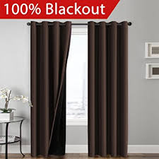 Blackout Curtain Liner Amazon by Amazon Com 100 Blackout Curtain Set Thermal Insulated U0026 Energy