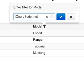 Pretty Table Filter Plugin With jQuery and Bootstrap Filterable