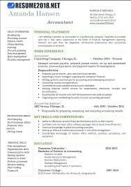 Examples Of Accounting Resumes Resume Template For Accountant 2017