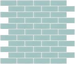 glass tile 1x3 inch light aqua blue frosted glass subway tile