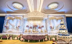 The Wedding Stage For Tommy And Fefe At Raffles Jakarta With Grasida Decoration As Decorator