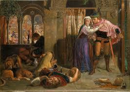 William Holman Hunt The Flight Of Madeline And Porphyro During Drunkenness Attending Revelry Eve St Agnes Smaller Version