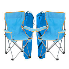 Simpa 2 X Childrens Folding Camping Chairs - Avaibale In Pink, Blue Or  Assortment Coloured Sets - Fishing Hiking Picnic Garden Collapsible Outdoor  ...