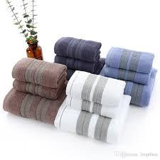großhandel new luxury 3 teile satz 100 baumwolle handtuch set 2 gesicht handtuch waschlappen 1 bad handtücher bad set für erwachsene gäste