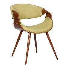 Armen Living Barrister Chair by Living Butterfly Mid Century Dining Chair In Walnut Wood And Green