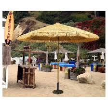 Patio Umbrellas At Target by 9 U0027 Round Crank Patio Umbrella Thatch Tropishade Target