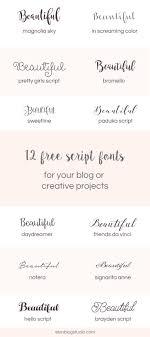The 25 best Script fonts ideas on Pinterest