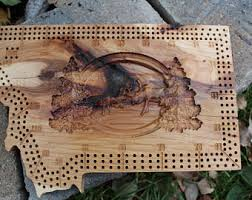 Montana State Cribbage Boards Any Board Wild Game Bear