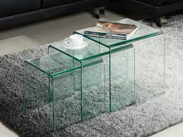 beistelltisch 3er set glas design minka