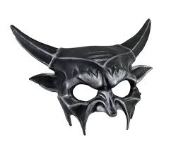 Halloween Half Masks by Metallic Half Face Demon Mask Zeckos