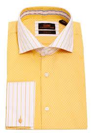steven land men u0027s stripe check pattern french cuff dress shirt