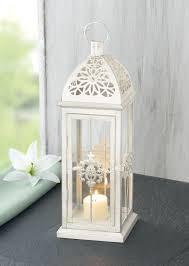 metall laterne barock weiß teelichthalter kerzenständer deko laterne laterne