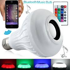e27 12w wireless bluetooth led bulb speaker rgb 16 color changing