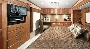 Rv Interior Bedroom Roomy With Office Space My Vision Dream Board Living And Bus