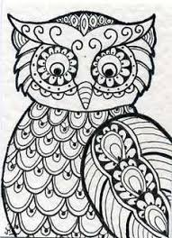 Coloring Owls On Owl Pages And