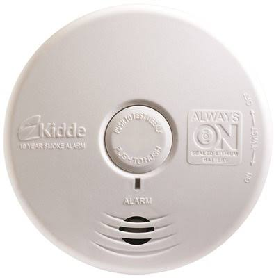 Kidde P3010L Worry-Free Living Area Sealed Lithium Battery Smoke Alarm