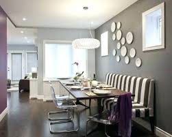 Dining Room Accent Wall Dark Grey Ghost Chairs Gray