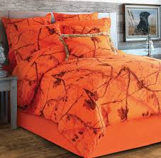 Camo Blaze Orange Bedding Collection