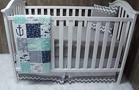 Nautical Crib Bedding by Baby Boy Chevron Baby Bedding Nautical Sea Anchor