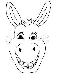 Cow Mask Printable Template Free Kids Donkey Craft Children Wolf Full Face Size