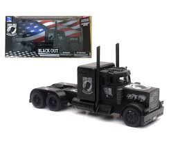 100 Peterbilt Rc Truck NEW 132 NEWRAY TRUCK COLLECTION Black BLACK OUT POWMIA