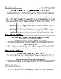 Telecom Resume Examples General Maintenance Technician Project Manager Samples