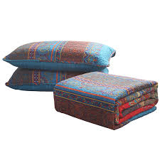 Southwest Decoratives Quilt Shop by Amazon Com 100 Cotton 3 Piece Paisley Boho Quilt Set