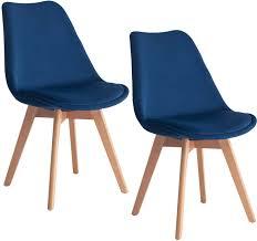 mifi 2er set esszimmerstühle mit massivholz buche bein retro