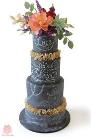 Chalkboard Inspired Rustic Chic Wedding Cake Fall Wedding Cakes