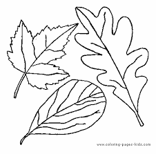 Leaves Leaf Color Page Coloring Pages Plate Sheetprintable