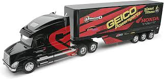 NewRay 14263 'Volvo Vn-780/Geico Honda Racing' Model Truck   EBay New Ray 132 Tow Truck With Custom Strobe Lights Youtube Kenworth W900 143 Monster Energy Jonny Greaves 124 Diecast Offroad Toy Newray Iveco Stralis 40 Contai End 21120 940 Am New Ray Trucks Scania R 124400 11743 Car Holder Scale 1 Newray 14263 Volvo Vn780geico Honda Racing Model Ebay Toys Scale Chevrolet Stepside Pickup Lvo Vn780 Semi Trailer Long Hauler Newray 14213 R124 Plastic Lorry 10523e Bevro Intertional Webshop Tractor Log Loader Diecast Amazoncom Peterbilt Flatbed And 2 Farm