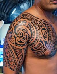 Samoan Tattoo Chest And Shoulder
