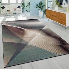 wohnzimmer teppich farbverlauf gemälde design bunt