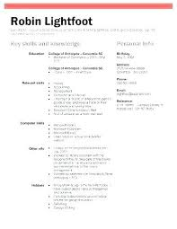 Cv Examples Student Work Experience Resume Template No With College Resumes