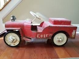 Vintage Red Structo Jeep Fire Truck Ride On Pedal Car For Sale ... Goki Vintage Fire Engine Ride On Pedal Truck Rrp 224 In Classic Metal Car Toy By Great Gizmos Sale Old Vintage 1955 Original Murray Jet Flow Fire Dept Truck Pedal Car Restoration C N Reproductions Inc Not Just For Kids Cars Could Fetch Thousands At Barrett Model T 1914 Firetruck Icm 24004 A Late 20th Century Buddy L Childs Hook And Ladder No9 Collectors Weekly Instep Red Walmartcom Stuff Buffyscarscom Page 2