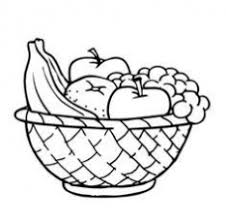 Free Coloring Pages Of Fruit Bowl Mixed