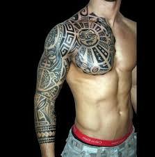 45 Tribal Chest Tattoos For Men