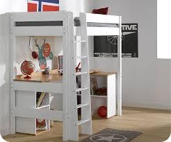 lit mezzanine bureau blanc mezzanine clay blanc avec bureau
