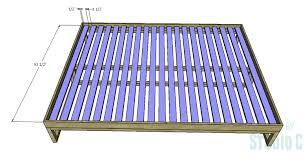 a simple to build queen platform bed u2013 designs by studio c