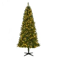 75 Ft Pre Lit LED Wesley Spruce Slim Artificial Christmas Tree With Color Changing Lights