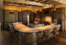 Rustic Lodge Style Home Kitchen