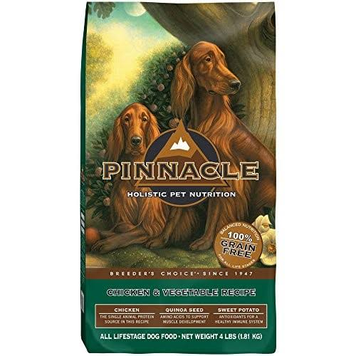 Pinnacle Grain Free All Life Stage Dry Dog Food - Chicken and Vegetable Recipe, 4lbs