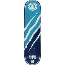 element skateboards nyjah huston silhouette skateboard deck 7 75