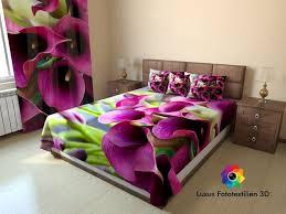 fotogardinen calla violett vorhänge gardinen nach maß vorhang mit motiv 3d