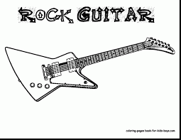 Good Electric Guitar Coloring Pages With And